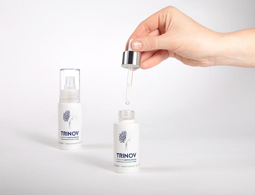 Come si applica la lozione anticaduta Trinov